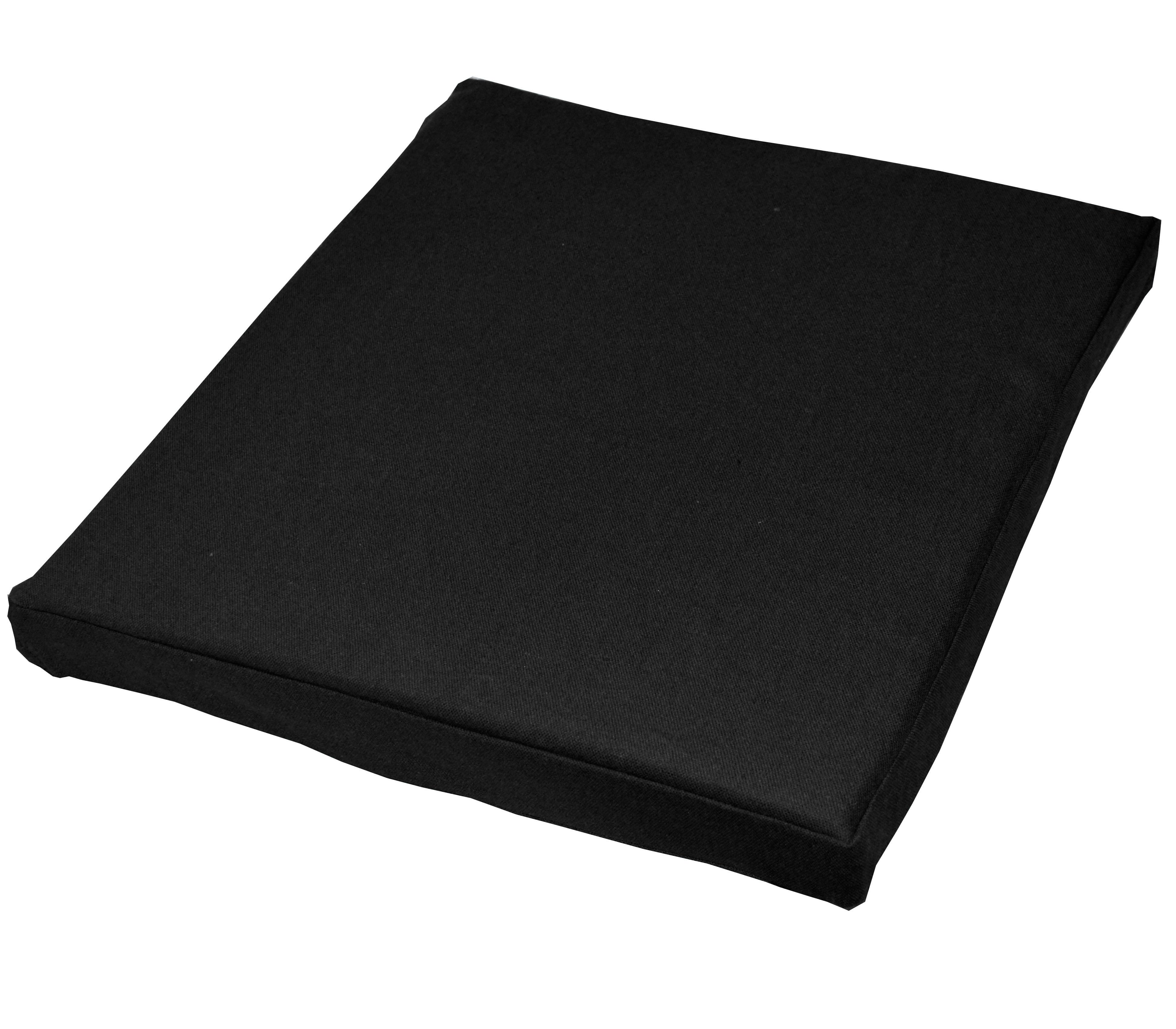 aa152t black plain cotton canvas 3d box sofa seat cushion cover custom size ebay. Black Bedroom Furniture Sets. Home Design Ideas