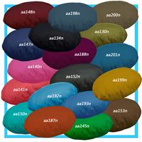 aa134r Navy Blue Cotton Canvas 3D Round Shape Seat Cushion Cover Custom Size