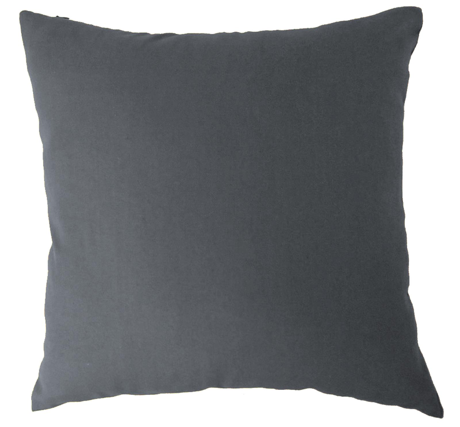 aa White Dark Tone Plain Solid Cotton Canvas Pillow Cushion Cover