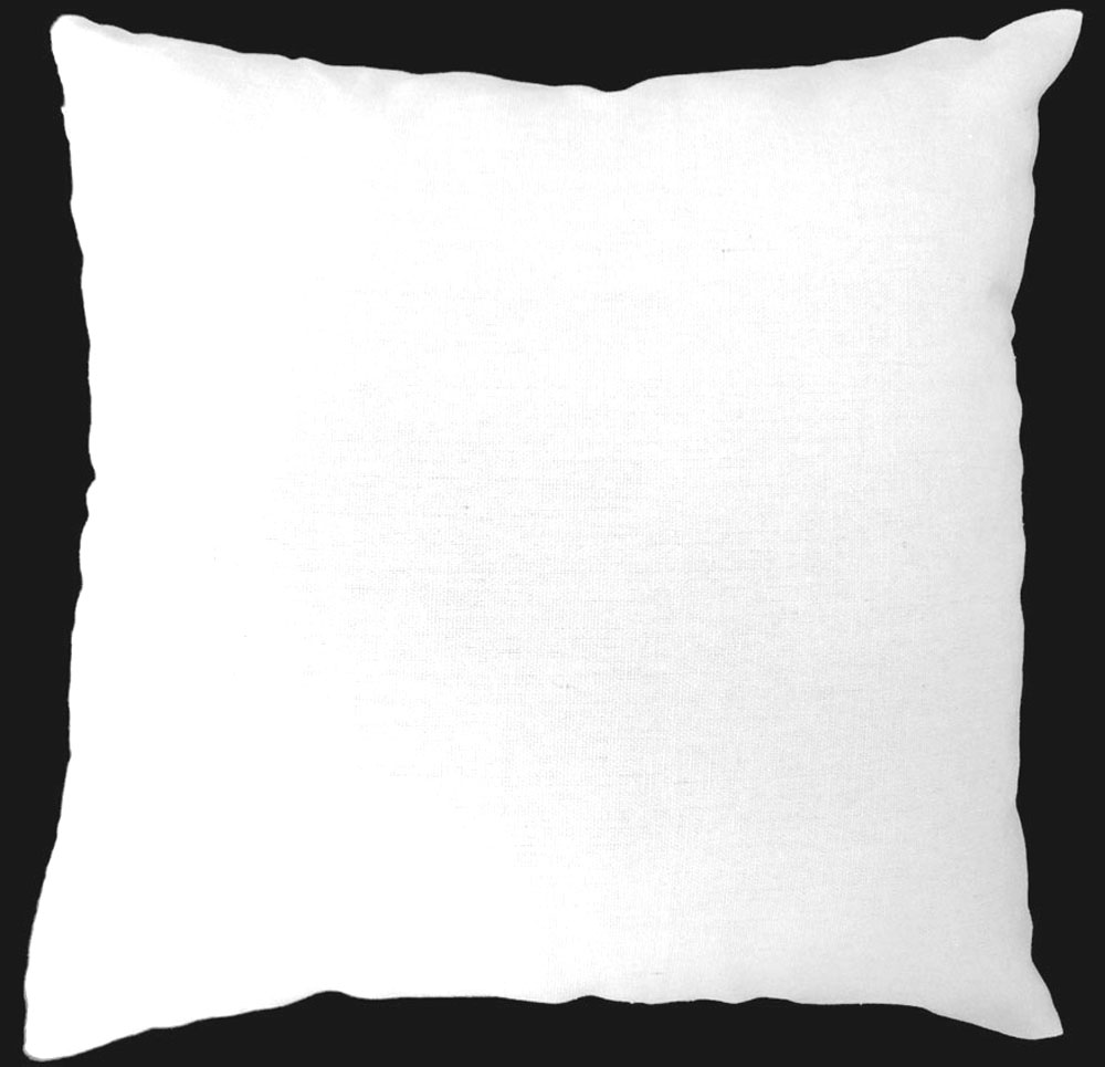 Aa132a Plain Solid White Cotton Canvas Cushion Cover Pillow Case