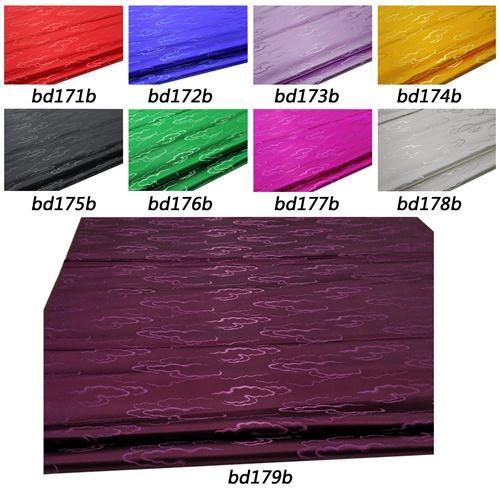 BD4 Faux Silk Brocade nube flotante material de tela de kimono Damasco Jacquard