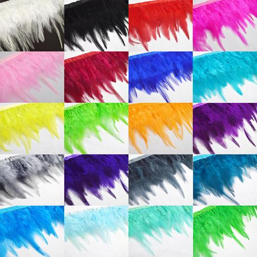 100x//Set Guinea Fowl Feather Multi-Colored Nature Feather 4.5-10cm DecoratiFBTS