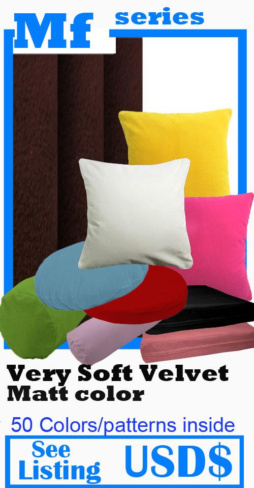 Mb52a Ivory//Beige Flat Velvet Style Cushion Cover//Pillow Case *Custom Size*