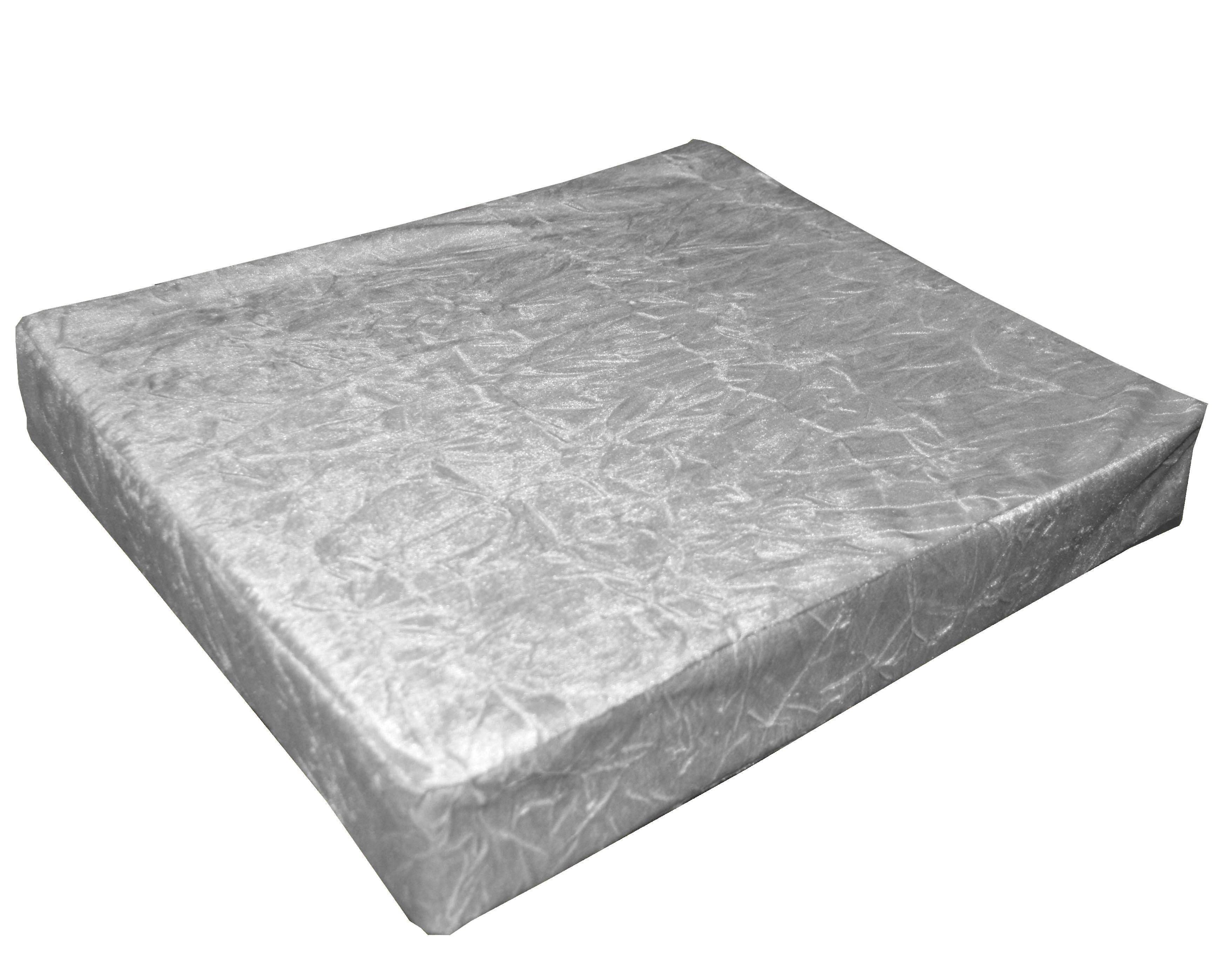 mn112t Silver Crushed Velvet Style 3D Box Sofa Seat Cushion Cover